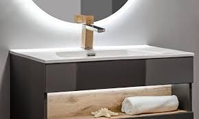 comad bahama badmöbel komplettset weiß hochglanz spiegelschrank und hochschrank 80cm