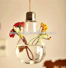 clear wholesale hanging light bulb vase as wedding decoration