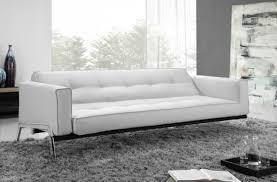 Sectional Sleeper Sofa With Chaise Plus Modern White Leather