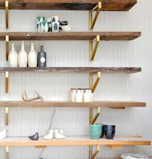 Making A Wooden Shelving Unit by Gold Bracket Ikea Hack Shelving For The Design Confidential On