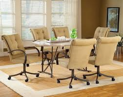 Dinette Sets With Caster Chairs by Kitchen Kitchen Chairs With Wheels Throughout Wonderful Kitchen