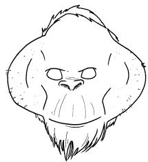 Printable Duck Mask Orangutan