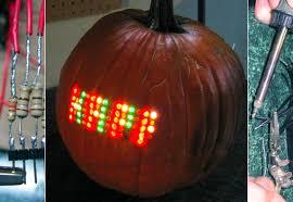 Pumpkin Carving Drill by Pumpkin Carving With A 70 Led Matrix Slashgear
