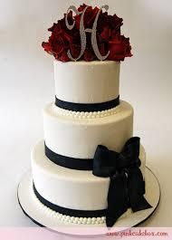 Red Rose 3 Tir Wedding Cake