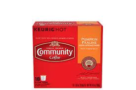 Decaf Pumpkin Spice Latte K Cups by Keurig K Cup Pods U0026 Single Serve Coffee Community Coffee