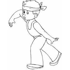Boy With Headband Coloring Sheet