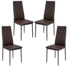 4tlg set esszimmerstühle stuhl küchenstuhl esszimmerstuhl wohnzimmerstühle braun