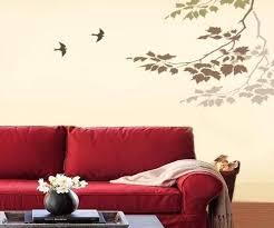 Tree Wall Painting Stencils Medium Size Of Pleasing Walls With Home Decor Ideas Nursery