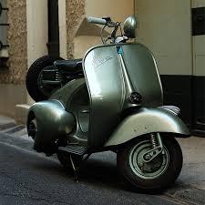 Old Vespa Vintage Motor Scooter