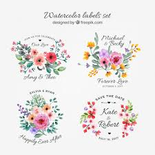 Watercolor Collection Of Floral Labels