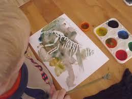 Preschool Or Tot School Craft Idea Painting Dinosaurs And Dinosaur Bones
