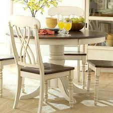 Casual Kitchen Table Centerpiece Ideas by Alluring White Round Table Set Decor Dinning White Dining Chairs