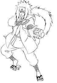 Coloriage Jiraiya Naruto à Imprimer