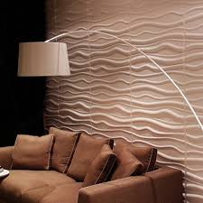 paintable waves 3d wall panels plant fiber white set of 6 32 s f