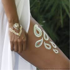 Flash Tattoo Tat Gold Tattoos Metallic Fashion Style Trend Temporary Vacation Beach Life