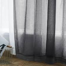 transparente vorhang vorhaenge wohnzimmer rod pocket window curtain panels schlafzimmer semi sheer voile curtains schwarz 39 bx98 l 2 panels