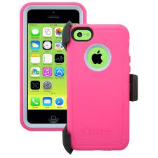 AUTHENTIC OtterBox Defender Case & Belt Clip Apple iPhone 5C Pink