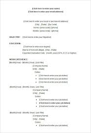 Sample Microsoft Word College Student Resume Format Free Templates