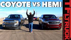 100 Big Truck Drag Racing Ford F150 Coyote V8 Vs Ram 1500 HEMI Race Which Is The