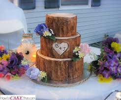 Rustic Tree Stump Wedding Cake Tutorial Learn How To Make The Realistic Fondant Bark