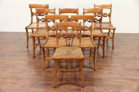 Set Of 8 Antique 1825 Curly Tiger Maple Greek Revival Dining Chairs ... Set Of Six Tiger Maple Ding Chairs Sale Number 3120t Lot Peaceful Design Vintage Room Mhwatson 6 Italian Ding Chairs In Maple And Beige Leatherette Of Fniture Wood Mid Century Light Lowenstein Bentwood Chair By Thonet Rejuvenation This 4 Country Chic Are Featured In A Solid With Amazoncom Svitlife Old World Holloway Beige Oval Four The Good Mod Skovby Danish Modern Consignment Straight Back Leather With Tapered Legs Combback Lansing Benches Boulder