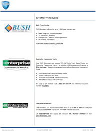 100 Bush Truck Leasing Independent Service Provider Summary Of Benefits Member Benefits