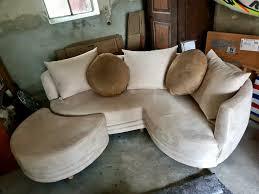 sofa neuwertig creme braun wohnzimmer