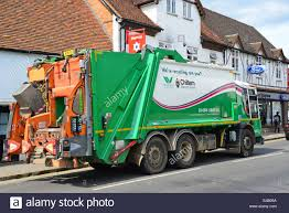 Rubbish Truck Collection, West Street, Marlow, Buckinghamshire Stock ...