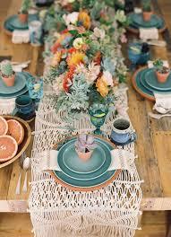 Boho Succulent Wedding Tablescape Decor