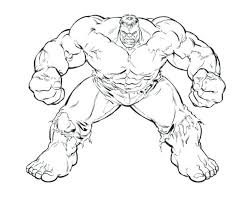 Hulk Coloring Pages To Print Free Smash Printable Strong Great Page For Kids Online