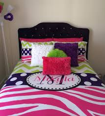 Zebra Bedroom Decorating Ideas by Chevron And Zebra Personalized Bedding With Shams For Pink And