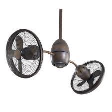 dual ceiling fans double head twin plus outdoor oscillating fan