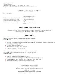 Sample Bank Teller Resume Examples