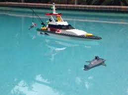 gave my son a lego boat for christmas the accompanying shark