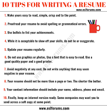 Resume Tips: How To Write A Professional Resume - ESL Forums How To Write A Cover Letter Get The Job 5 Reallife Resume Formats Find Best Format Or Outline For You Unique Writing Address Leave Latter Can Start Writing Assistant Store Manager Resume By Good Application What Makes Sample An Experienced Computer Programmer Fiddler Pre Written Agenda Voice Actor Mplates 2019 Free Download Resumeio Cstruction Example Tips Genius Career Center Usc Letter Judge Professional