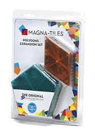 amazon com magna tiles 15718 polygons 8 piece expansion set toys