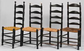 Tall Ladder Back Chairs With Rush Seats by Lot 283 Group 5 Ladder Back Chairs 19th C