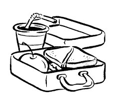 600x549 Delicious Food In Lunchbox Coloring Pages
