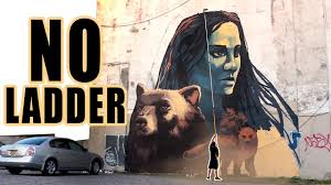 Big Ang Mural Brooklyn by Huge Street Art Mural With Only A Roller Nyc Youtube