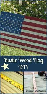 Everyday Party Magazine Rustic Wood Flag DIY Looks Like A Pottery Barn Item