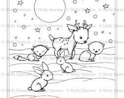 Little Winter Animals Coloring Page