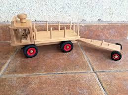 100 Fagus Trucks Wooden Truck And Trailer RARE MODEL