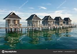 100 Houses In Malaysia Water Houses On Mabul Island Borneo Sabah Stock Photo