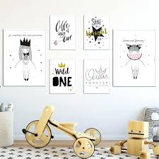 Wall Arts Canvas Art Nursery Children Posters Cute Cartoon Girl Prints