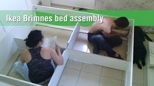 Mandal Headboard Ikea Usa by Ikea Brimnes Bed Construction Timelapse Youtube