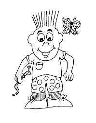 Little Boy Coloring Pages For Kids Printable Colouring Sheets