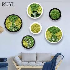 ruyi nach maß künstliche pflanzen ewige leben moos foto rahmen diy hause dekoration zubehör für wohnzimmer moderne winter