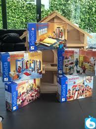 puppenhaus aus holz howa mit möbeln und 4 puppen sypad