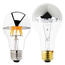 a19 led bulb silver tipped led filament bulb 40 watt