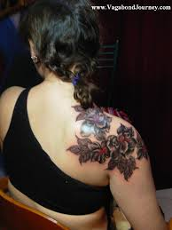 Flower Back Tattoos And On